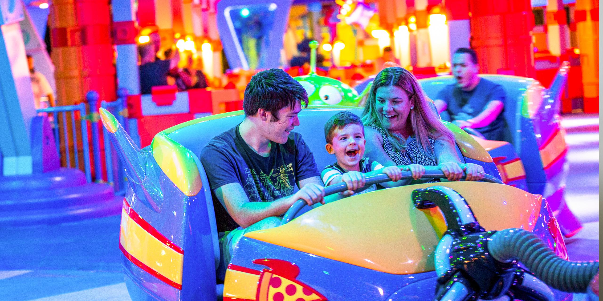 Alien swirling saucers toddler parents disney