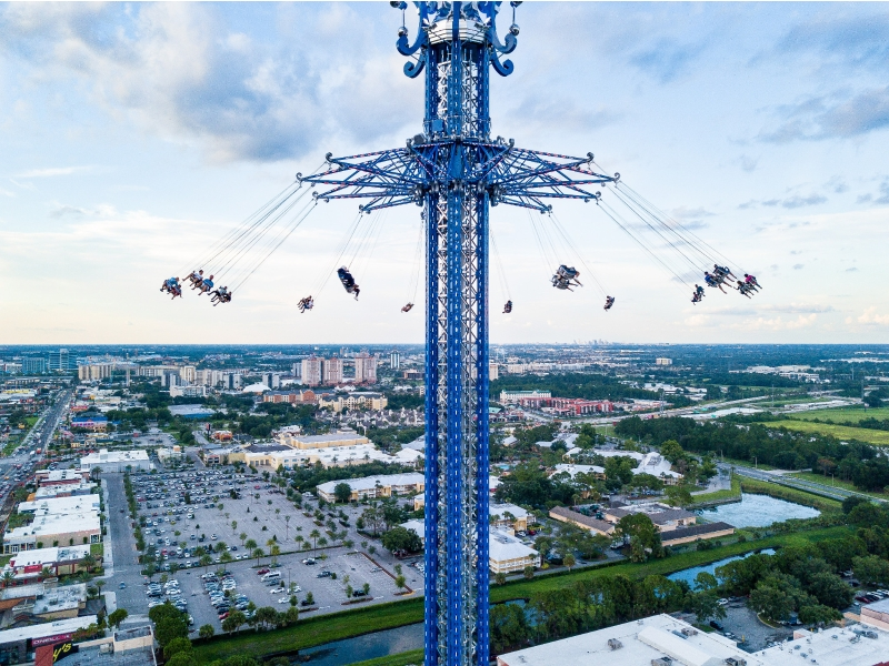 how long is a ride on the wheel at icon park orlando