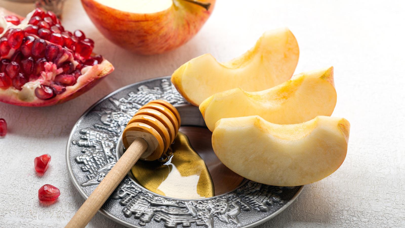 Rosh hashanah apples honey pom